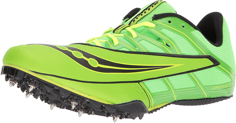Saucony Hommes's Spitfire 4 Track and Field chaussures, vert noir, 13 Medium US