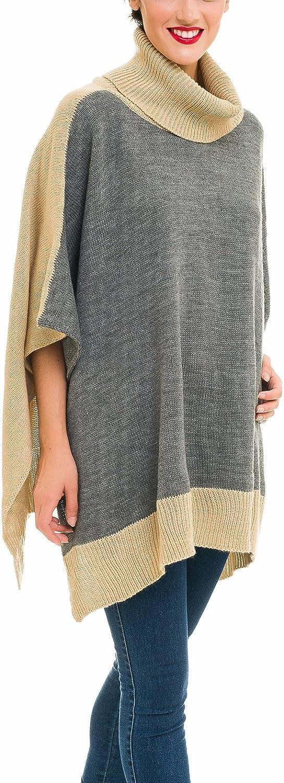 Women Shawl Wrap Cape Coat for Fall Winter Cardigan Poncho Turtleneck Sweater