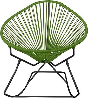 Innit Designs Acapulco Rocker, Olive Weave on Black Frame