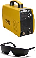 BMB Technology Inverter Welding Machine Arc-200 Amps. With All Accessories - Yellow/Orange