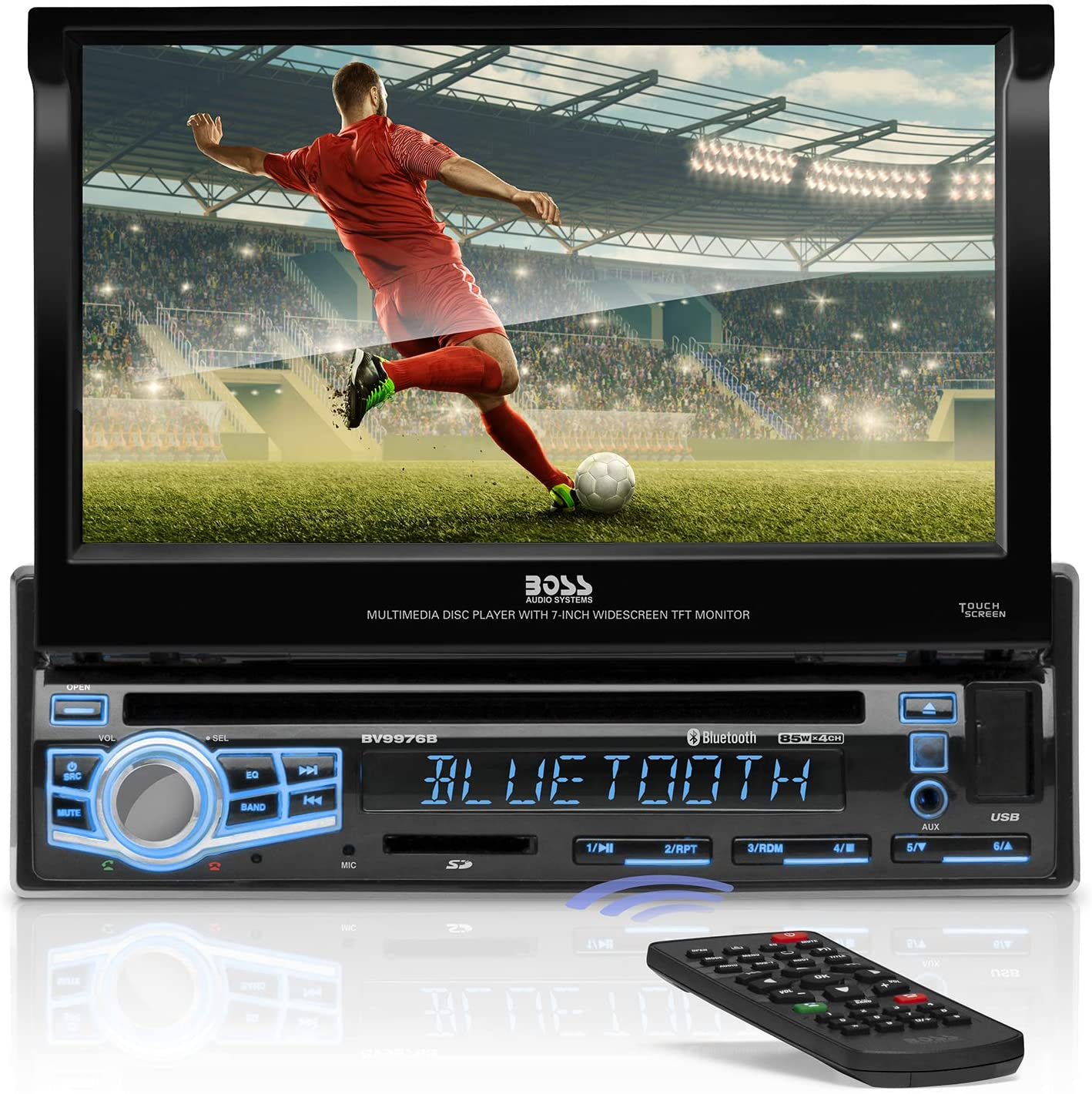 BOSS Audio Max 89% OFF Systems BV9976B Car DVD Single Bluetoot Cheap super special price - Din Player