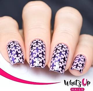 fleur de lis nail design