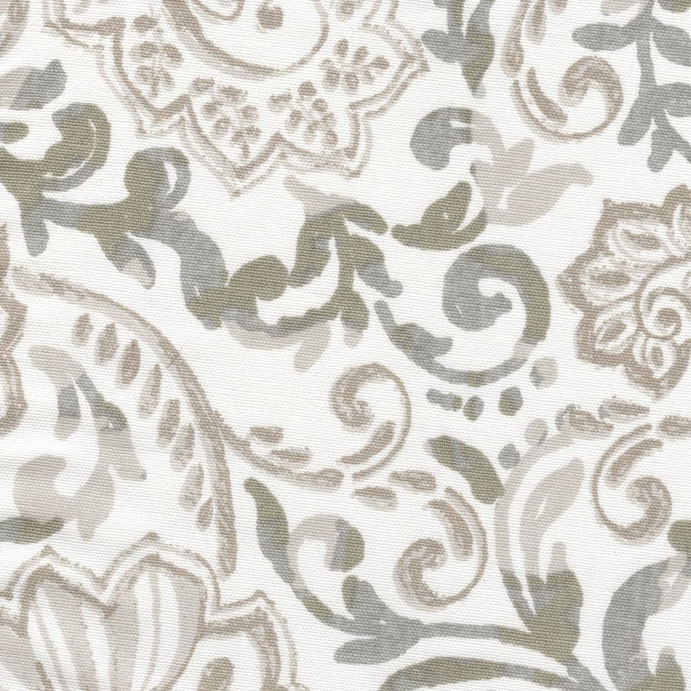 Close to Custom Linens Shannon Valance Max 52% OFF Paisley Tie-Up Ecru Ranking TOP19 Flora