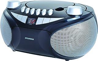 Sylvania Portable Cassette, CD, AM/FM Radio Boombox, with Cassette Player (SRCD286)