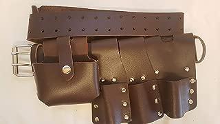 BBI Scaffolding Brown Leather Tools Belt 4 Top Quality Scaffolders Work