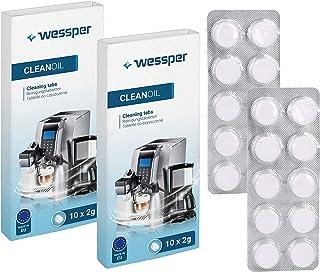 Wessper 20 tablettes de nettoyage pour machines à café et expressos