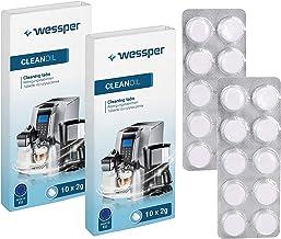 Wessper Reinigingstabletten voor volautomatische koffiemachines van alle fabrikanten (2 verpakkingen van 10)