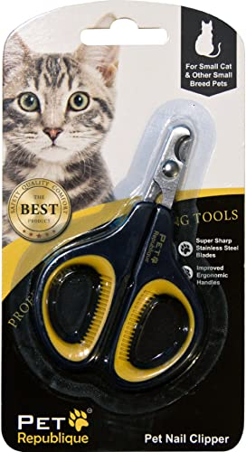 Pet Republique Cat Nail Clippers – Professional Claw Trimmer for Cat, Kitten, Hamster, Small Breed Animals - Mini Cli...