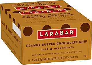 Larabar, Gluten Free Bar, Peanut Butter Chocolate Chip, Vegan (16 Bars)