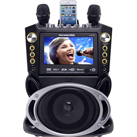 Karaoke USA Karaoke System - Portable, Black (GF844)