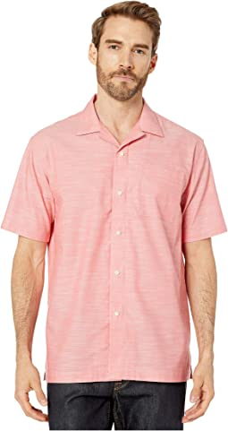 Short Sleeve Magnetically-Infused Button-Down Shirt