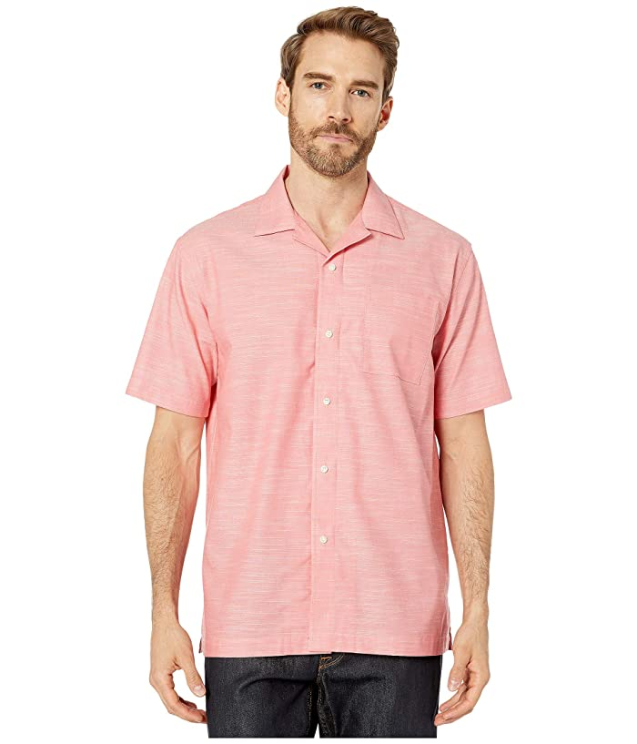 Magna Ready  Short Sleeve Magnetically-Infused Button-Down Shirt (Coral) Mens Short Sleeve Button Up
