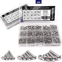 Comdox 500Pcs M3 M4 M5 Stainless Steel Button Head Hex Socket Head Cap Bolts Screws Nuts Assortment Kit