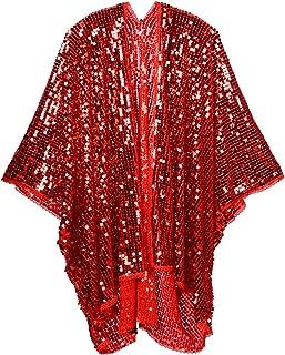 Disco Sequin Kimono Festival Fashion Shawl for Rave, Club, Beach, Swimwear