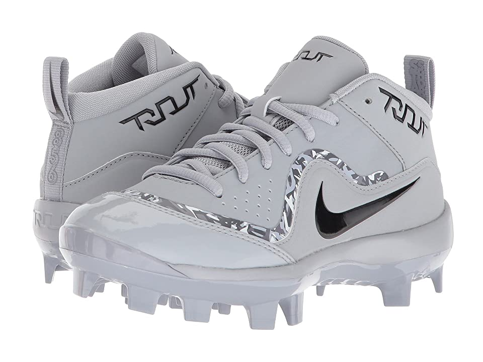 Nike Kids Trout Pro MCS Baseball Cleat (Toddler/Little Kid/Big Kid) (Wolf Grey/Black/Cool Grey/Dark Grey) Boys Shoes