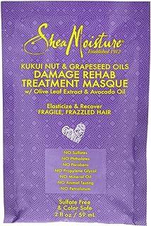 Shea Moisture Kukui Nut and Grapeseed Oils Damage Rehab Treatment Masque by Shea Moisture for Unisex - 2 oz Masque, 59 ml