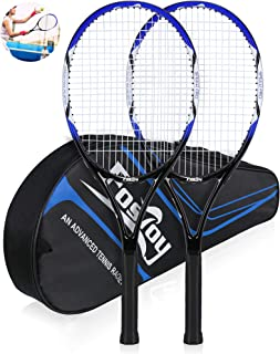 Fostoy Adult Recreational Tennis Racket, 27 inch Tennis Racquet with Carry Bag, Professional Tennis Racket, Good Control Grip, Vibration Dampe
