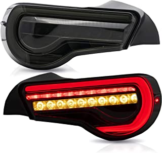 Tail lights Assembly Fit for Toyota 86 2012 2013 2014 2015 2016 2017 2018 2019, VLAND Taill Lamp Assembly Subaru BRZ/Scion FRS 2012-2019 with Sequential Turn Signal, Full LED, Plug-and-play,Smoked