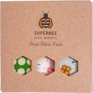 SuperBee Wax Wraps   Bienenwachstücher   The Triple Pack   Small