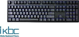 iKBC TD108 Blue Backlit LED Mechanical Keyboard with Cherry MX Blue Switch for Windows/Mac, Full Size Computer Keyboards, Black Case, Black PBT Doubleshot 108 Keycaps, ASIN/US QWERTY