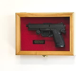 sfDisplay.com, Factory Direct Display Cases Single Pistol Display Case Wall Mount Solid Hardwood Cabinet Gun Holder