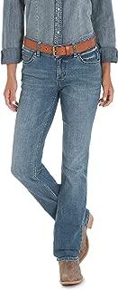 Wrangler Women's Western Mid Rise Stretch Straight Leg Jean