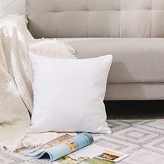 NATUS WEAVER White Pillow Case Soft Linen Square Decorative Throw Cushion Cover Pillowcase with Smooth Hidden Zipper for Car 24