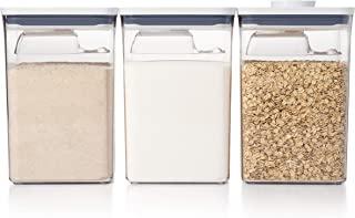 OXO Good Grips 11236400 Lot de 6 grandes boîtes avec pelles en plastique Blanc