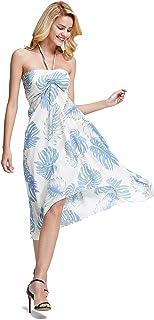 فستان هاواي باترفلاي لوا للنساء في الزفاف الأبيض