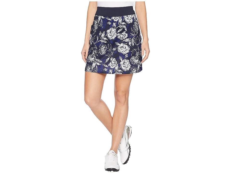 Callaway Tropical Floral Print Knit Skort (Peacoat) Women