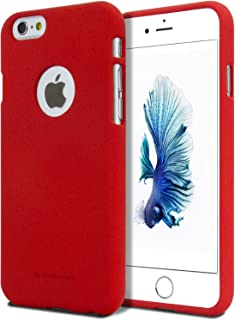 iPhone 6 Plus Case [Slim Fit] GOOSPERY [Flexible] Soft Feeling Jelly [Matte Finish] Silky TPU Rubber Silicone Cover [Lightweight] for Apple iPhone 6S Plus / 6 Plus Red SFJEL-IP6P-RED