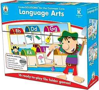 Carson-Dellosa CD-140309 Language Arts File Folder Game, Grade Kindergarten, 16 Games, 29 Sheets of Cards (Pack of 45)