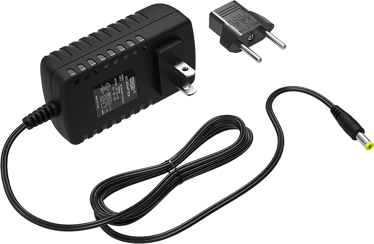 HQRP AC Adapter Compatible with 1Byone Driveway Patrol Alert Alarm System QH-0001, QH-0002, QH-0251 Battery Eliminator Power Supply Cord Adaptor [UL Listed] + Euro Plug Adapter