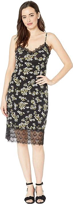 Glam Painterly Slip Dress