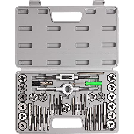 """1//2/"""" Coarse UNF UNC Imperial SAE Tap And Die Set 1//8/"""" Fine 24pc Set"""