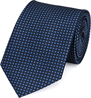 Fabio Farini Classic Tie, 8 cm Width, with Check Pattern in Various Colours for Christmas, Birthday, Wedding, Office