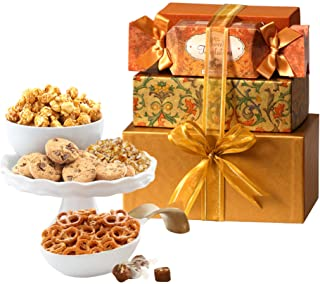 Broadway Basketeers Snackers Heaven Christmas Gift Tower (Kosher Certified)