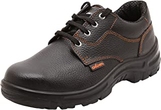 ACME Atom Genuine Leather Black Safety Shoes for Men (8)