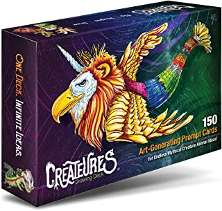 Mythical Creatures Drawing Game & Animal Art Ideas. 150 Prompt Cards for All Ages & Imaginations.