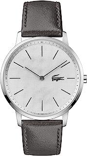 Lacoste Men's White Dial Grey Calfskin Watch - 2011056