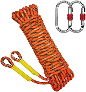 Vkospy Outdoor Rock Climbing Rope Fire Fighting Cord Camping Life saving Safety String Life Saving Hiking Striped With Buckle Blue