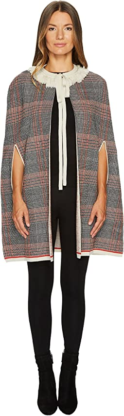 Sonia Rykiel Check Woolsilk Cape