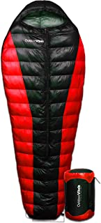 Outdoor Vitals Atlas 0-15 - 30 Degree F Ultralight Backpacking Mummy Down Sleeping Bag for Lightweight Hiking & Camping