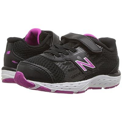 New Balance Kids KA680v5I (Infant/Toddler) (Black/Azalea) Girls Shoes