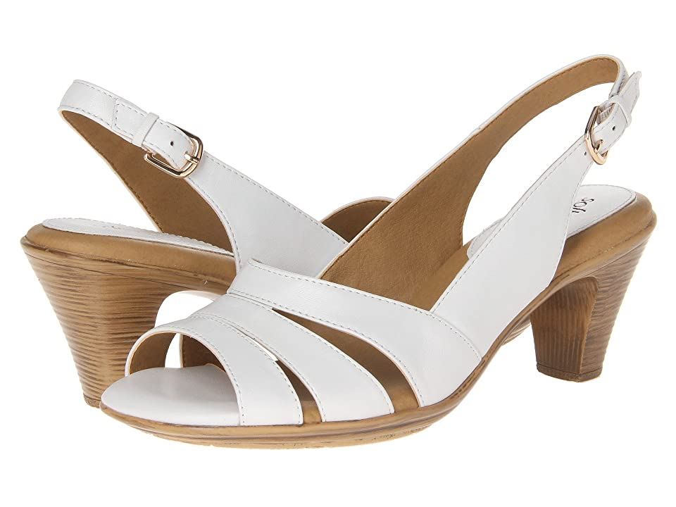 Vintage Sandals | Wedges, Espadrilles – 30s, 40s, 50s, 60s, 70s Comfortiva Neima - Soft Spots White Velvet Sheep Nappa Womens Dress Sandals $79.95 AT vintagedancer.com
