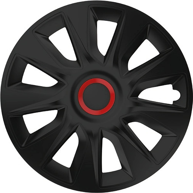 Zentimex Z778258 Radkappen Radzierblenden Universal 17 Zoll Black Auto