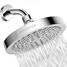 SparkPod Shower Head - High Pressure Rain - Luxury Modern Chrome Look - Easy Tool Free Installation - The Perfect Adjustab...