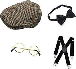 Peaky Blinders 20/'s Tommy Shelby Fancy Dress Stag Night Costume Accessories 4Pcs