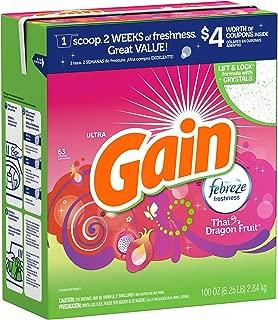 Gain Ultra With Febreze Freshness Thai Dragon Fruit Scent Powder Laundry Detergent 63 Loads 100 Oz