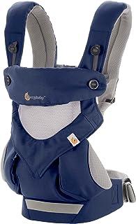 ERGObaby 360 多功能透气网面婴儿背带,*产品,符合人体工程学设计,灰色 法国蓝 均码